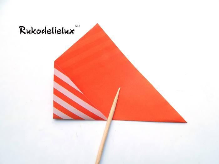 Переворачивание рамки для фотографий оригами мастер класс