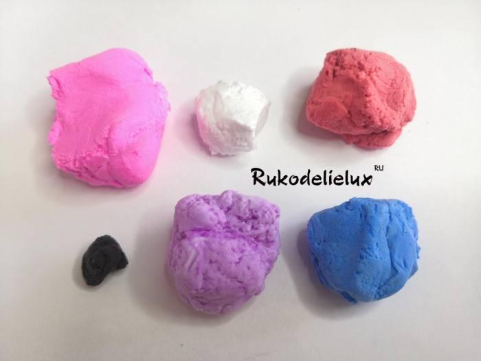 Воздушный цветной пластилин для лепки единорога