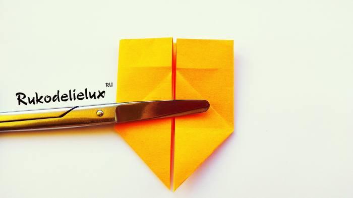 пятиугольная форма листа