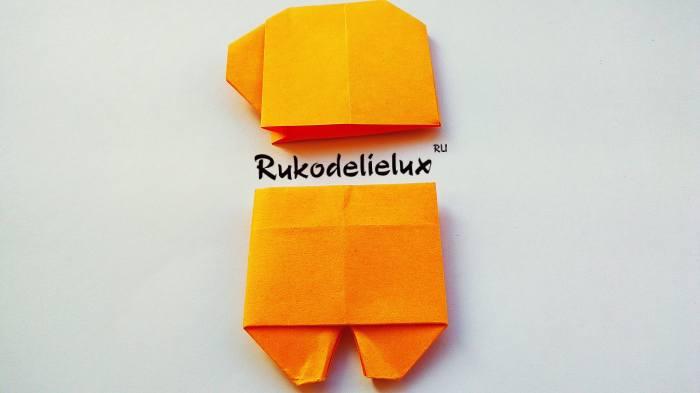 верхняя часть амонг ас и нижняя из бумаги оригами