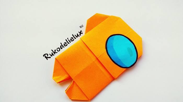 готовая поделки из бумаги амонг ас оригами