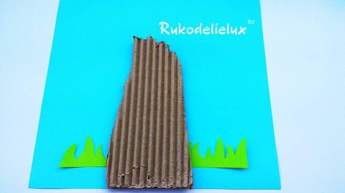 наклейка фона травы и ствола дерева