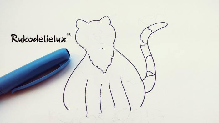 рисунок лапок котика