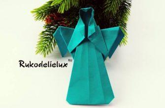 рождественский ангел из бумаги оригами