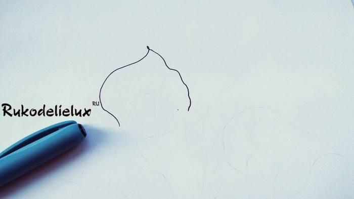 начинаем рисовать каллы карандашом