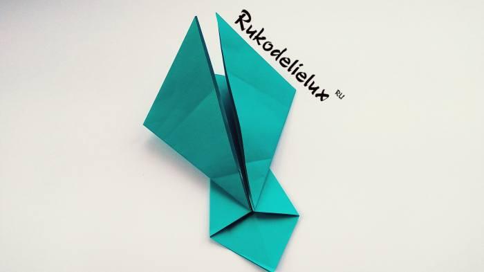 левый угол ангела оригами