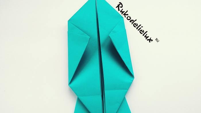 вертикальные загибы треугольника