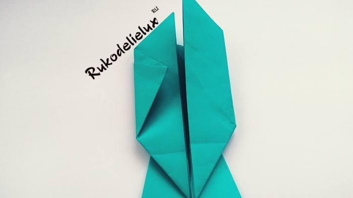 втягивание оригами