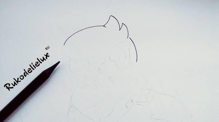ворон рисунок бравл фото 2
