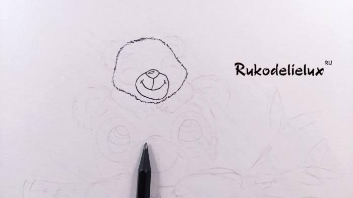 рот и нос рисунка пандочки своими руками