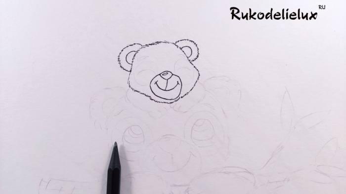 уши панды ко дню матери рисунок карандашом