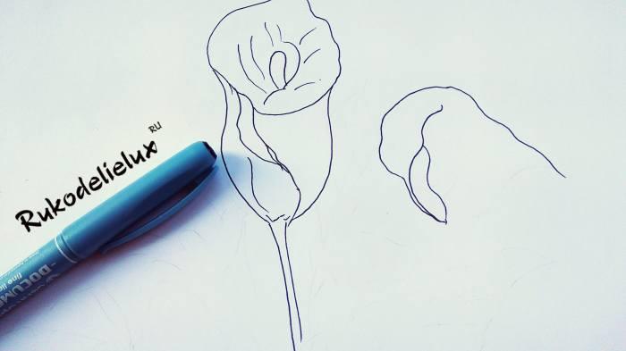 второй цветок по шаблону