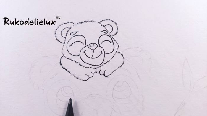 лапки маленькой панды на рисунке к празднику
