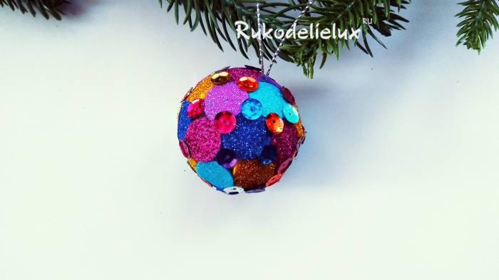 готовый шарик новогодний на елку