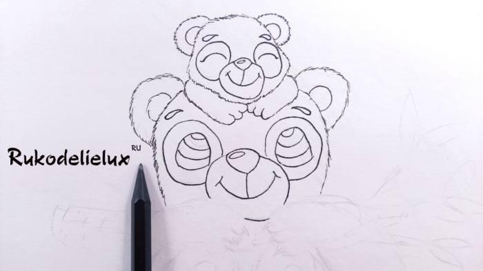 брови на глазах рисунка для детей панд