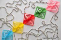 Гирлянда из бумаги — 7 способов как сделать