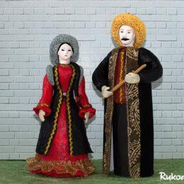 Куклы в башкирских национальных костюмах