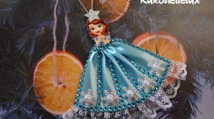 Новогодние канзаши принцесса