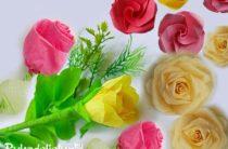 Как сделать розы из бумаги — 5 вариантов
