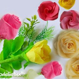 How to make roses from paper - 5 options
