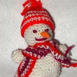 Снеговик крючком — как связать пошагово с фото