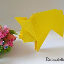 Свинья оригами – новогодний символ